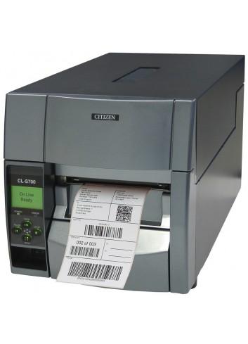 Półprzemysłowa drukarka etykiet Citizen CL-S703R, Półprzemysłowa drukarka naklejek Citizen CL-S703R, wbudowany nawijak etykiet