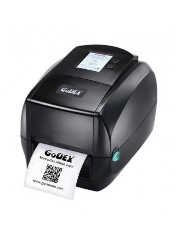 Biurkowa drukarka etykiet Godex z kolorowym wyświetlaczem, drukarka nalepek posiada głowicę 600dpi