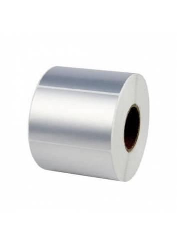 Etykieta foliowa kolor srebrny 60mm x 40mm.1000szt. etykiet.