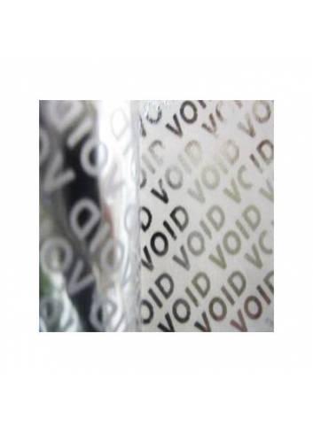 plomby zabezpieczające, napis VOID, etykiet srebrne 50x30mm
