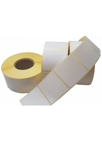 Etykiety papierowe termiczne o szerokości 105mm i wysokości 210mm.