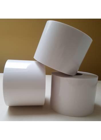 Etykieta termoransferowa foliowa, kolor biały, rozmiar 50x30mm