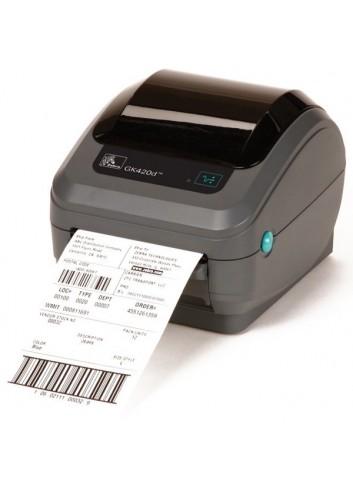 Drukarka etykiet (nalepek) Zebra GK420t, rozdzielczość głowicy 203dpi. Najlepsza drukarka do drukowania kodów kreskowych.