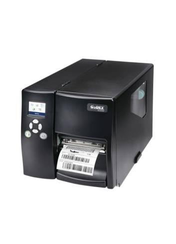 Godex EZ-2250i to przemysłowa drukarka z głowicą 203dpi. Godex EZ-2350i posiada głowice 300dpi.