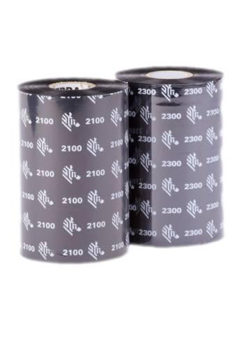 Taśma woskowa, kalka do zadruku etykiet papierowych, 110mm x 300mb, Zebra.