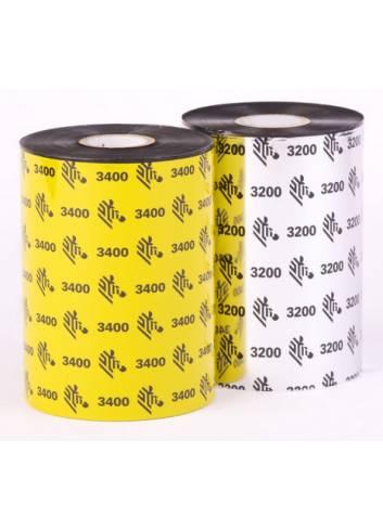 Kalka wosk-żywica 3200, firmy Zebra, do drukarek biurkowych, 64mm x 74mb.
