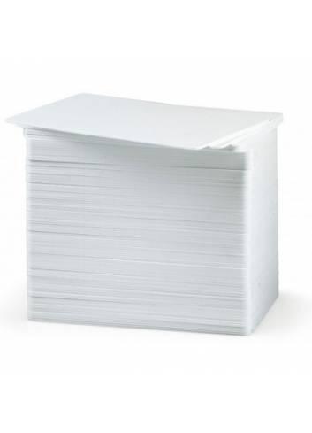 Białe karty pvc do drukarek kart plastikowych.