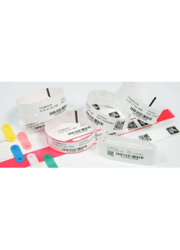 Opaski na rękę Zebra Z-Band Direct. zadruk w termicznych drukarkach Zebra HC100, ZD510.
