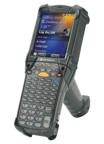 Komputer mobilny Zebra MC9200, bardzo wytrzymały i solidny terminal do pracy na magazynie.